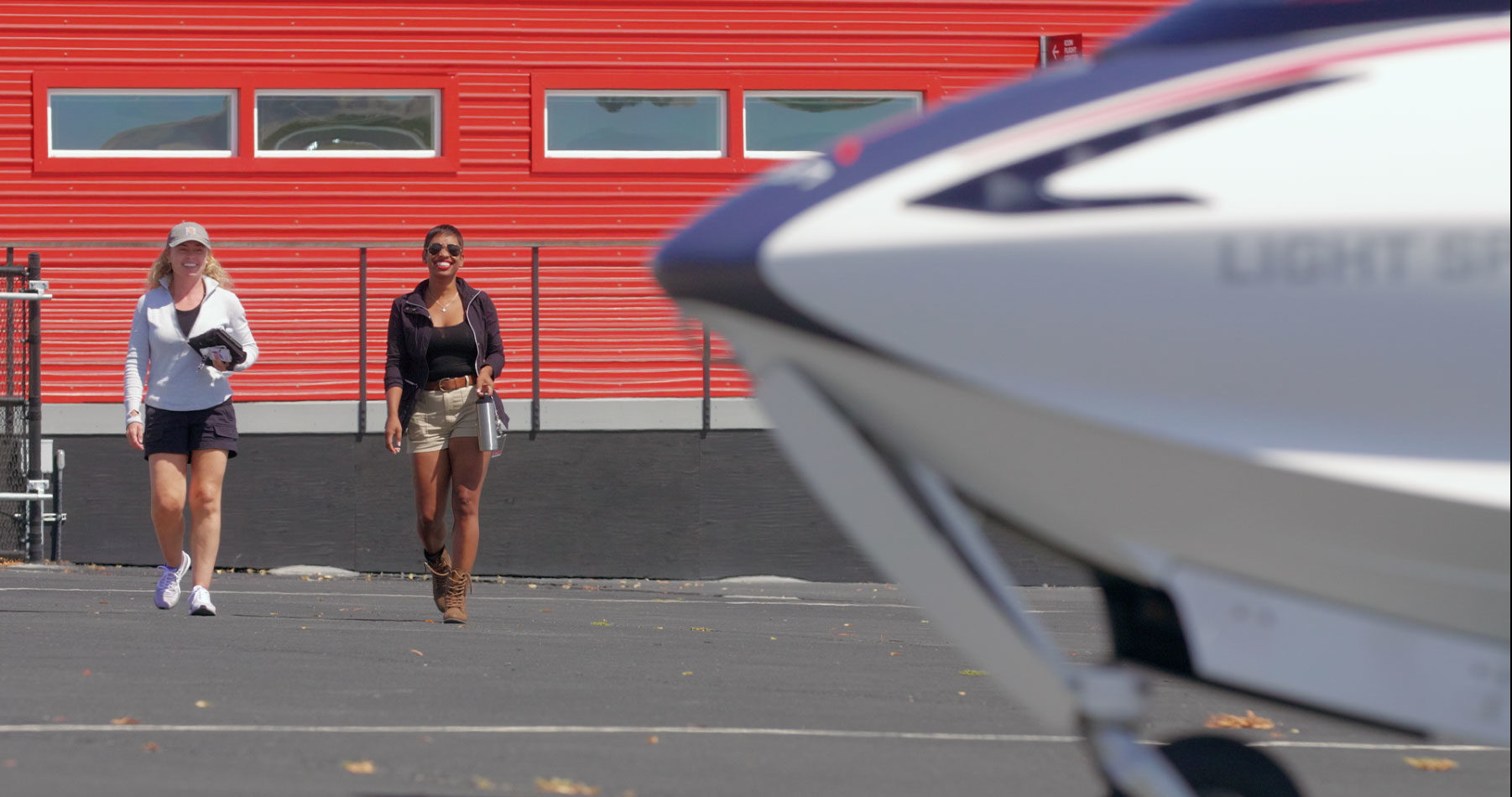 Preparing to take off in the ICON A5 seaplane at the ICON Aircraft flight school in Vacaville, CA.